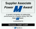 1993 - Supplier Associate Power Award der MagneTek, Inc.