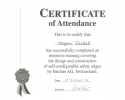 1994 - 'Certificate of Attendance' durch die Bircher AG Switzerland